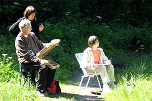 Personal art tuition outdoors in Middleton Dale